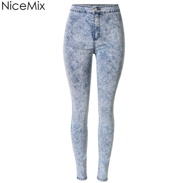 345dae50cdc NiceMix 2019 Skinny Jeans Woman Pencil Pants Casual High Waist Jeans Plus  Size Snowflake jeans Denim Jeans Femme Calca Feminina