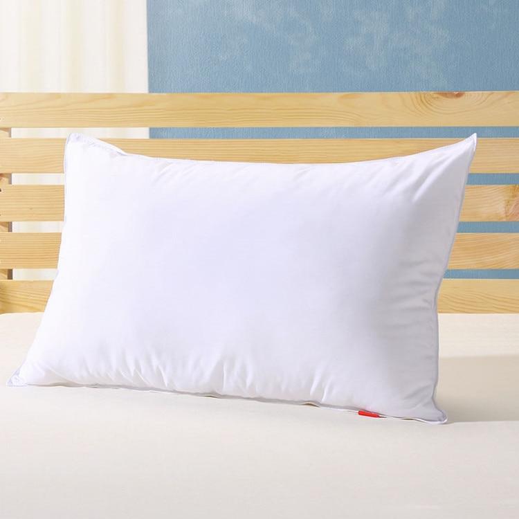 Medium pillow 90% white goose down pillow king 20*36 inches white filled 39 oz Fill power 800+ white goose down free shipping