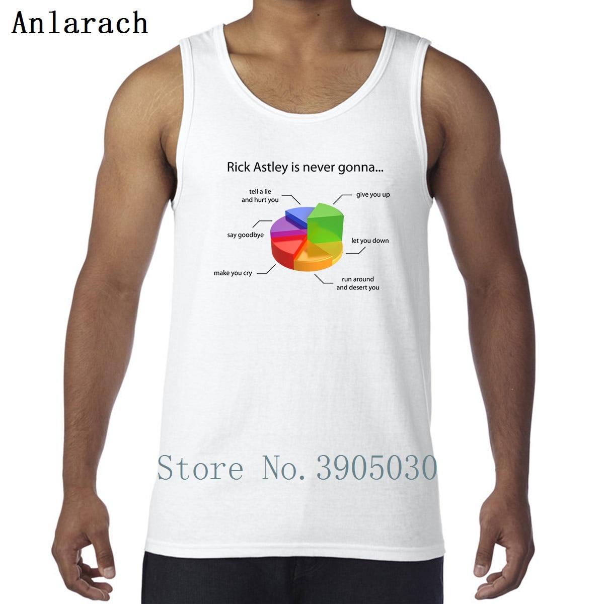 Rick Astley Pie Chart Vests Kawaii Character Fashion Xs 2xl Tank Top