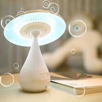 Modern Creative Mushroom Air Purifier Desk Lamp USB Rechargeable Touch Sensor LED Light Cleaner Home Loft Decor Gift New