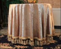 Round Square BA Series solid gold tablecloths table Table dinner cover mat Europe beauty flower polyester home Dec FG902