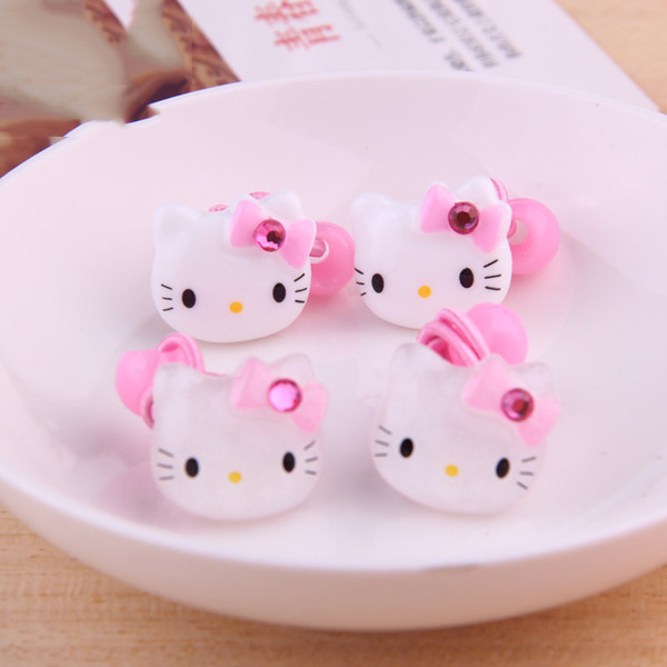 Fashion Children Hair Ropes Girls Hair Accessories Kids Cat Headwear Cartoon Hello Kitty Elastic Hair Bands Princess Headdress children fashion bobby pins hairpin headwear set 6pcs set girls cartoon hello kitty fox owl cat animal bb clips hair accessories