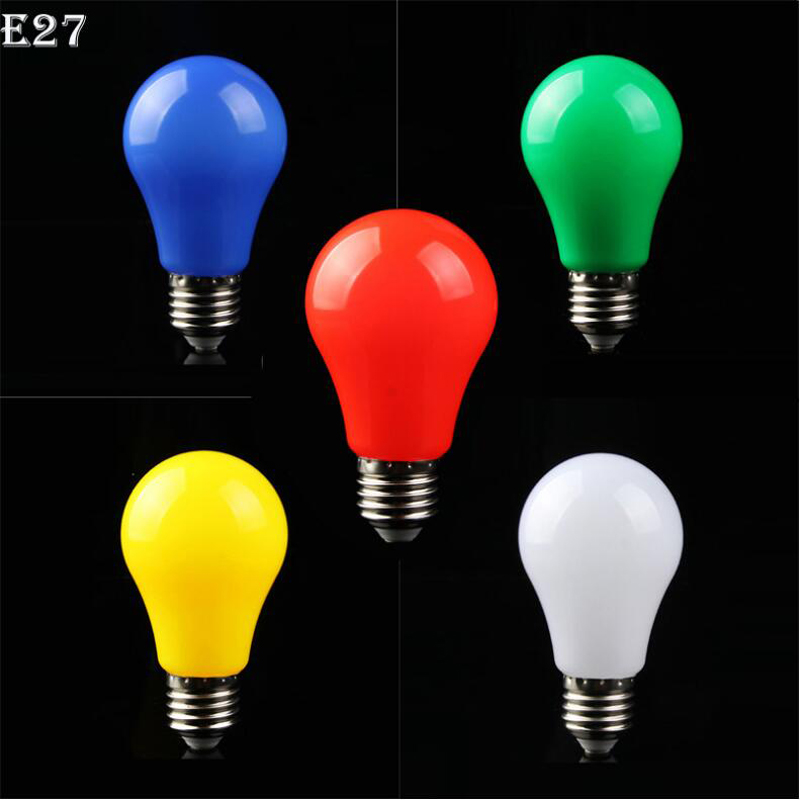Led Color Candle Lamp E27 5w 220v Stage Bulb Red Yellow