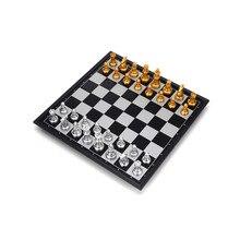 Путешествия складной магнитные шахматы Портативный путешествия шахматы Настольная игра игрушка