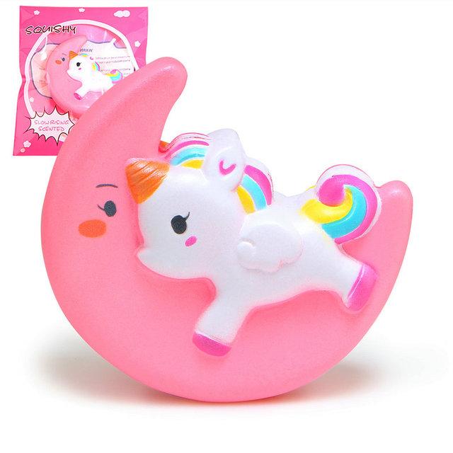 Kwaii Rainbow Double Face Bear Ice Cream Horse Alpaca Sheep Strawberry Squishy Slow Rising Jubom Squeeze Fun Kid Toys Gift 1PC