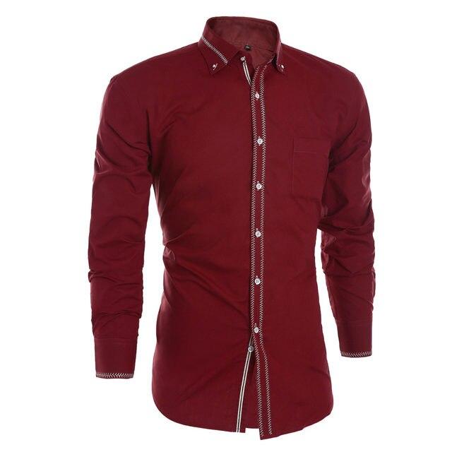 Online Shop Mens Shirts Long Sleeve 2018 Male Tuxedo Shirt Cotton ...