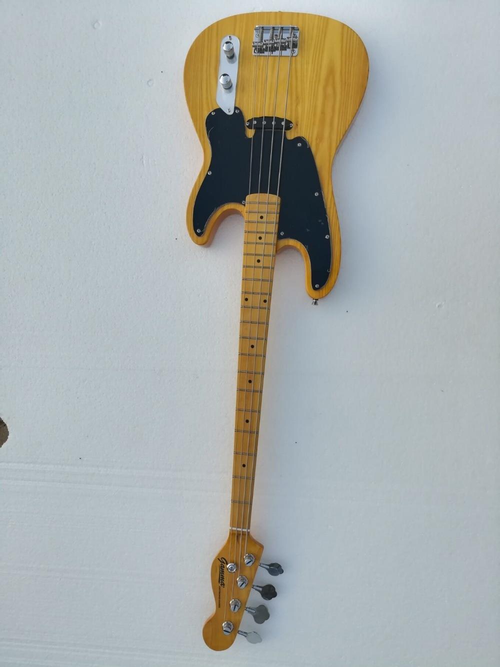 Usine gros haute qualité GYPB-6008 d'origine Cendres bois couleur manche érable Precision Bass Guitare, Livraison gratuite