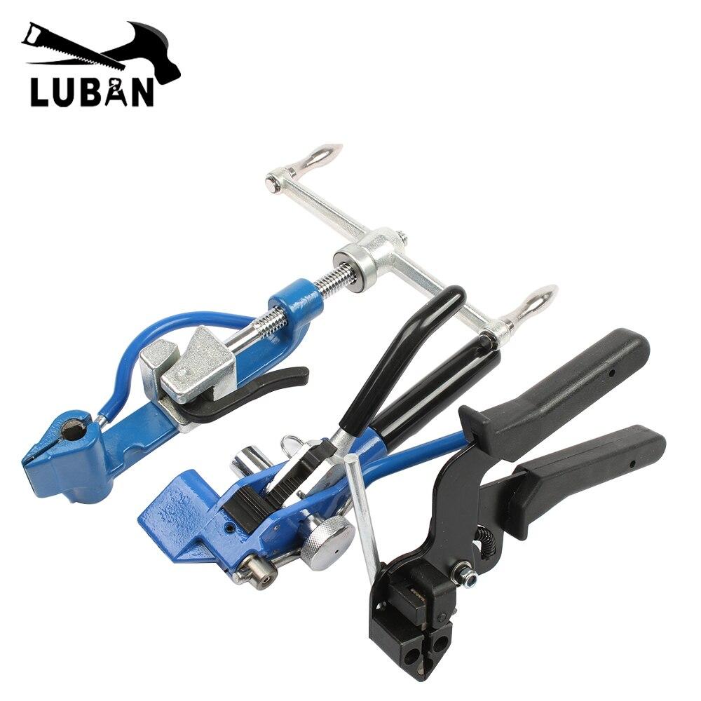 Aço inoxidável Cable Tie Gun pacote Zip Tie Cabo alicate de Aço Inoxidável ferramenta de Tensionamento de ação do Gatilho Arma com Cortador de Cabo