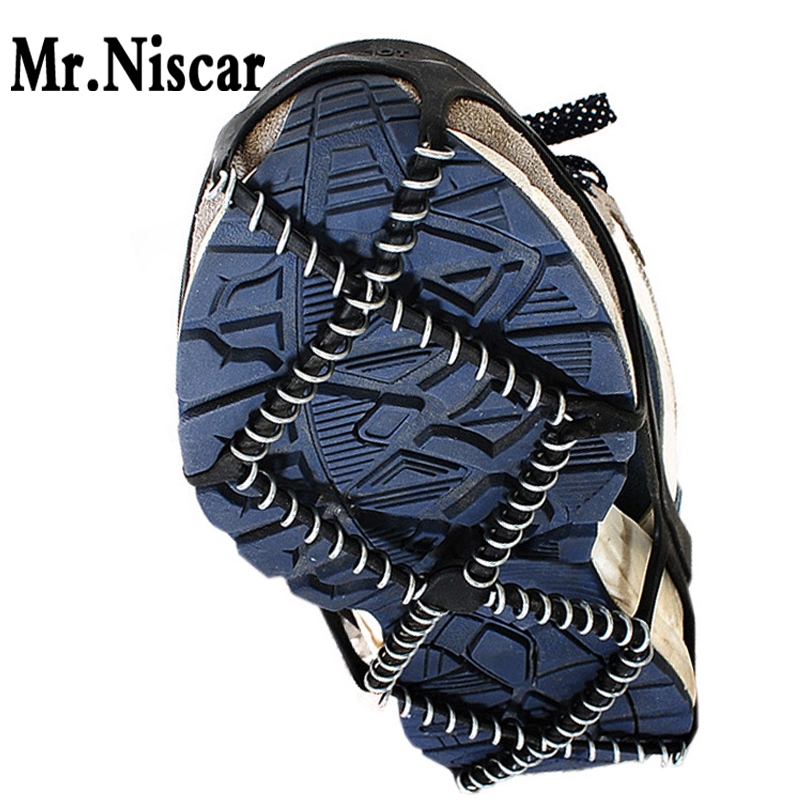 Outdoor Sport Crampons Snow Walk Ice Grippers Anti-Skid Spring Shoe Covers Lifestyle Portable Ice Gripper One Size Fit EUR35-43