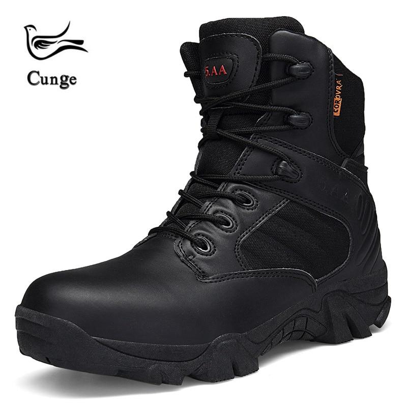 Bottes tactiques militaires pour hommes bottes de randonnée en plein air bottes imperméables en cuir respirant chaussures d'escalade taille: 39-46