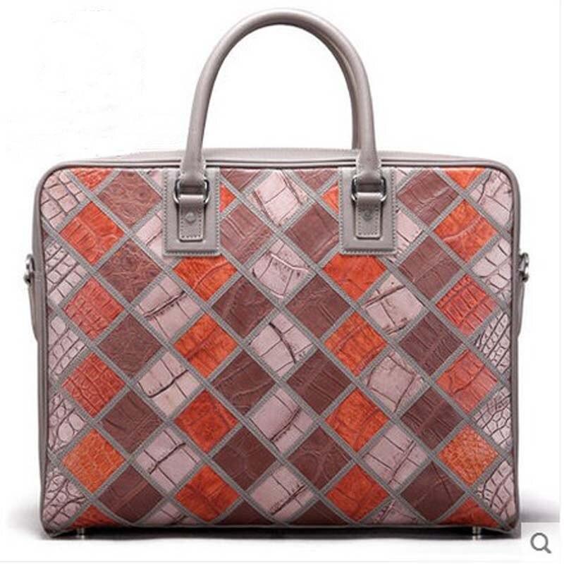 2018 mengzhongmeng Crocodile leather handbag with crocodile leather handbag male alligator leather briefcase business bag