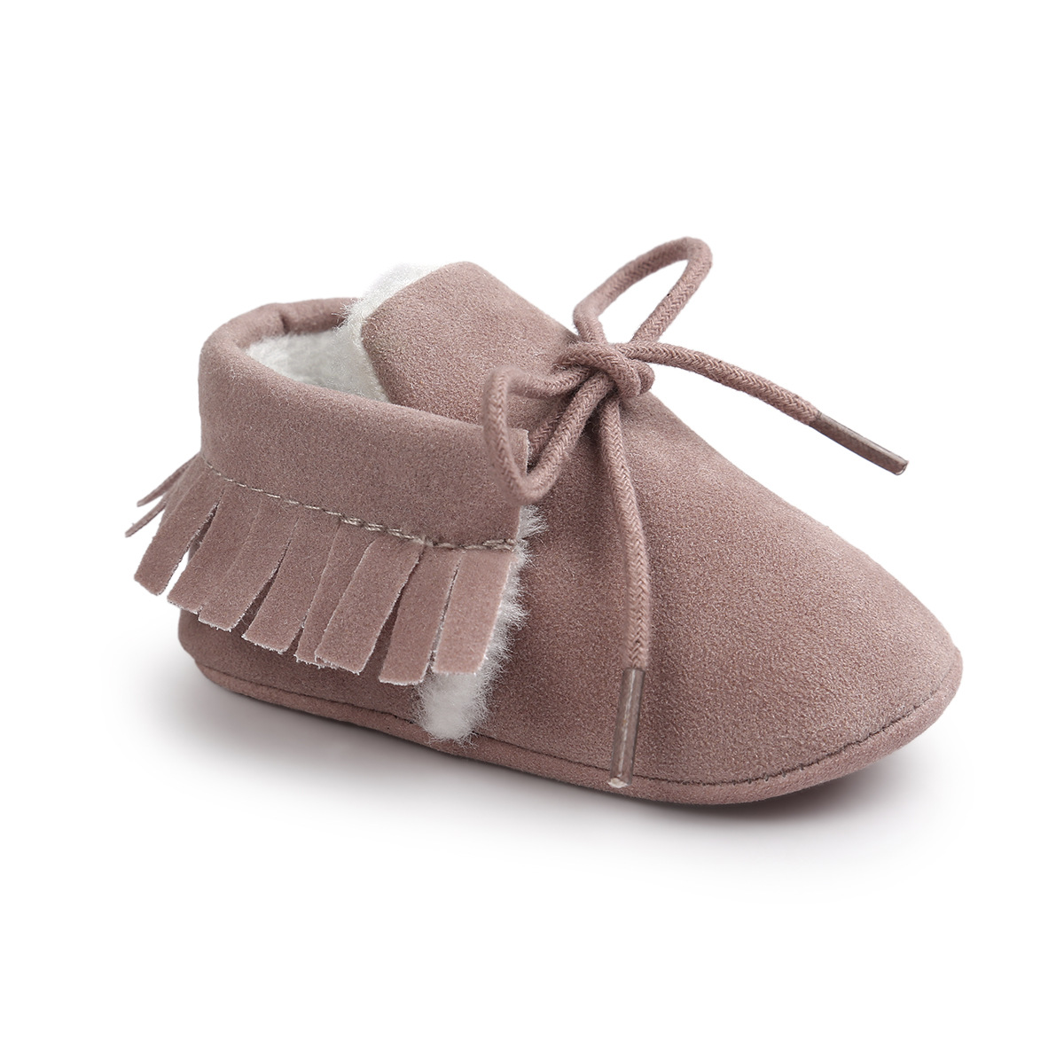 Autumn And Winter Baby Fashion Shoes Matte Texture Soft Bottom Baby Winter Shoes Tassel Toddler Sweet