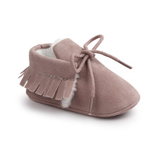 Autumn And Winter Baby Fashion Shoes Matte Texture Soft Bottom Baby Winter Shoes Tassel Toddler Sweet Pretty Cute Warm shoes