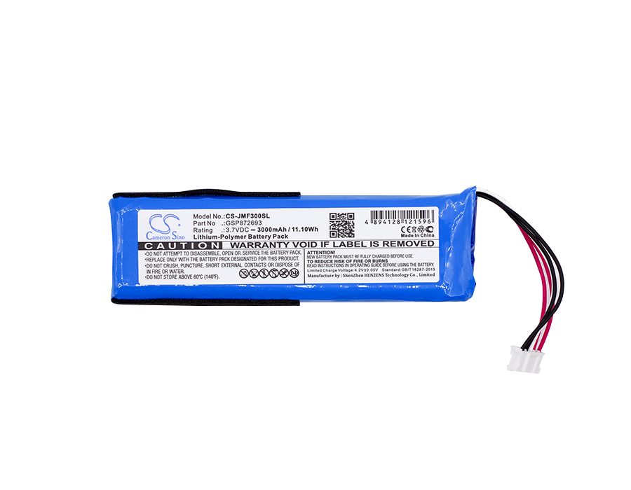 Cameron Sino 3000mAh Battery GSP872693 for JBL Flip 3, JBLFLIP3GRAY cameron sino 2600mah battery 061834 63404 for bose soundlink mini