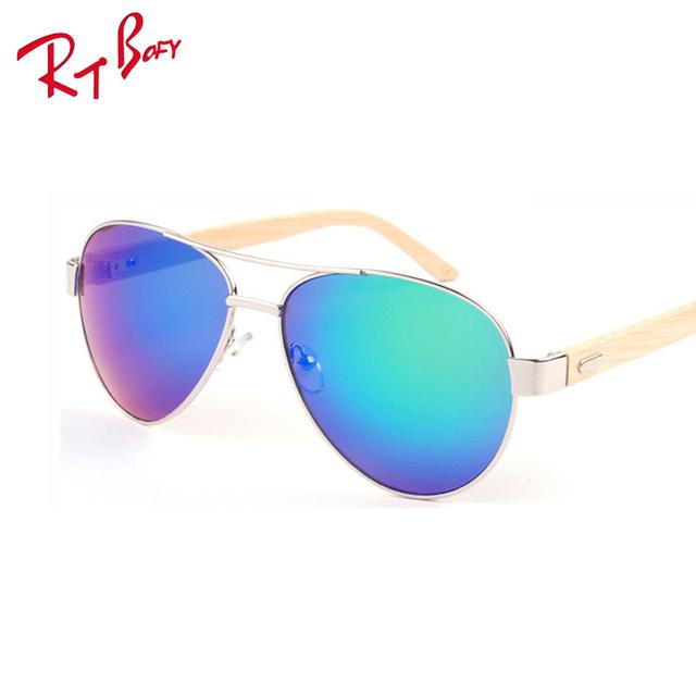 2017 Piloto UV400 gafas de Madera Gafas de Sol Hombres Mujeres Marca Diseñador Gafas de Sol de Espejo de Conducción Deportiva Original De Bambú gafas de Sol Masculino a24