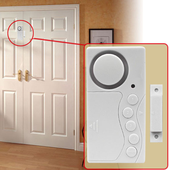 New Wireless Home Door Window Motion Sensor Burglar Entry Security Alarm System LCC77