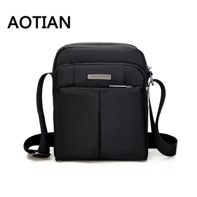 AOTIAN Brand Crossbody Bags For Men Fashion Waterproof Men Nylon Messenger  Bag Hand Bag Travel Casual Tote Birthday Gift 6f0f1117e9bdd