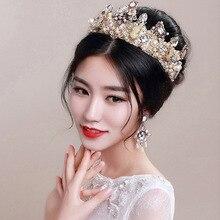 La mariée de mariage coiffe Baroque couronne vintage mode de luxe bijoux de mariée ornements reine femmes hairband hairjewelr 0309