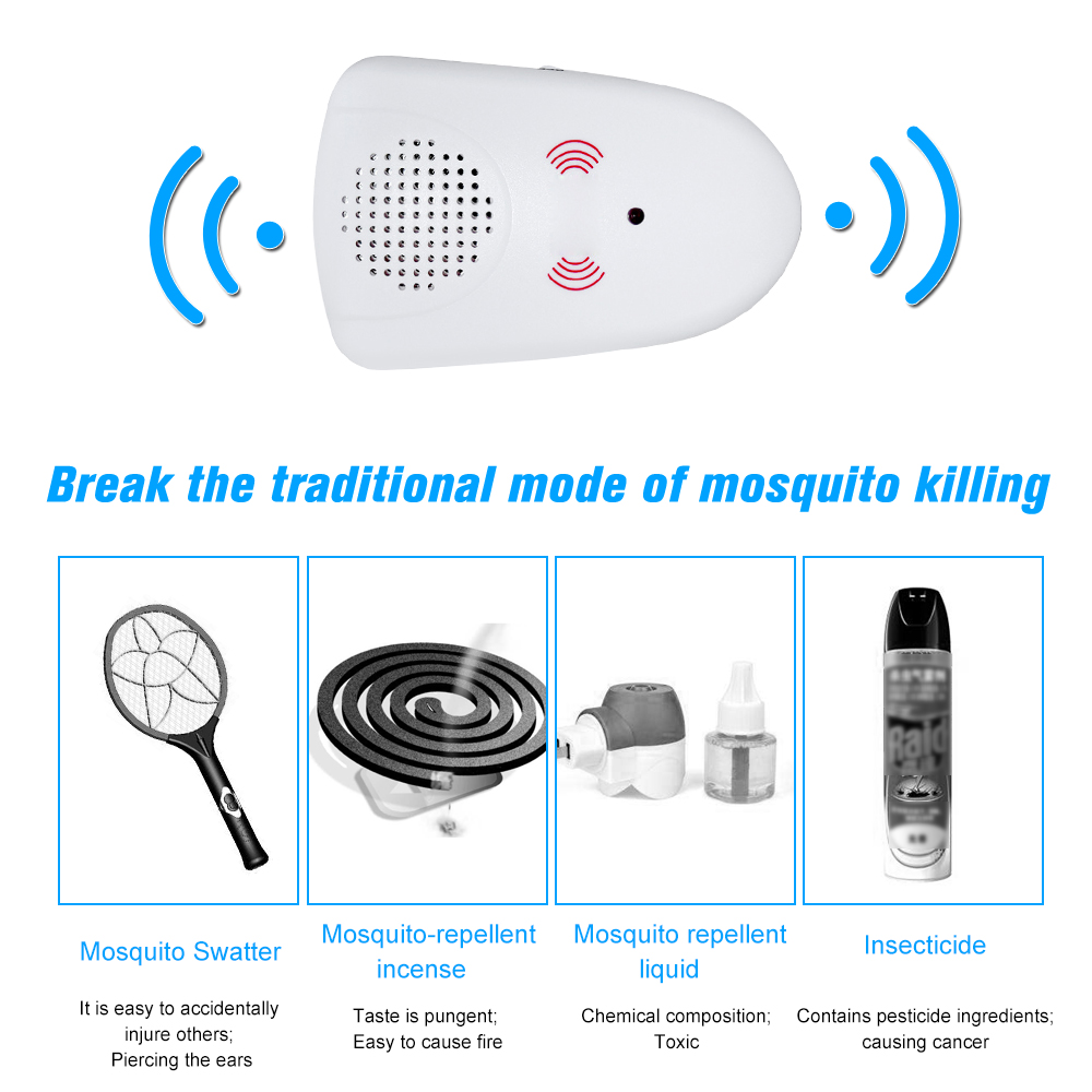 Brilliant Electronic Ultrasonic Mosquito Portable Intelligent Insect Repellent Pest Reject Insect Killer Adjustable And Usb Charging Port Security & Protection