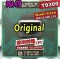 Original intel cpu core 2 duo t9300 cpu del ordenador portátil 6 m caché/2.5 ghz/800/dual-core socket 479 procesador portátil para pm45 gm45