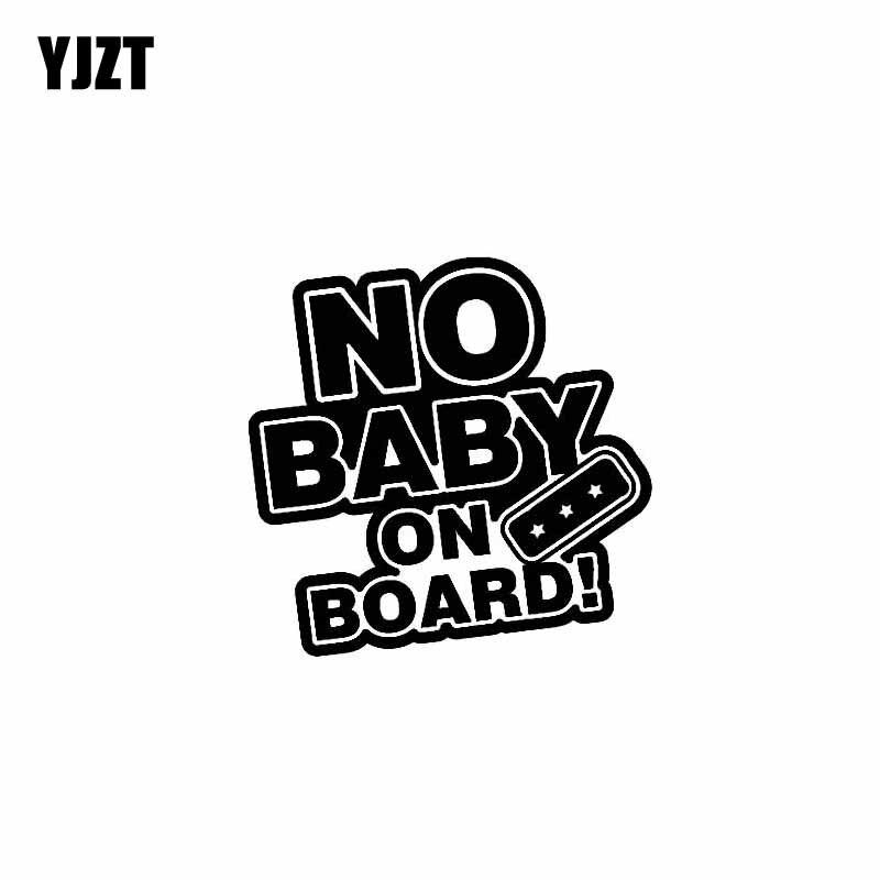 YJZT 10 см * 9,7 см без ребенок на борту Смешные безопасности автомобиля винила Стикеры пропуск знак черный, серебристый цвет C10-00630