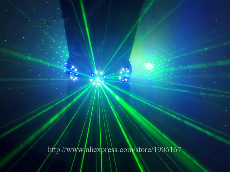 Colorful led green laser belt waistband girdle 12