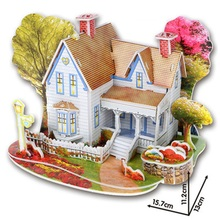 Baby toy Kid 3D DIY Puzzle Jigsaw Early learning Castle Cons