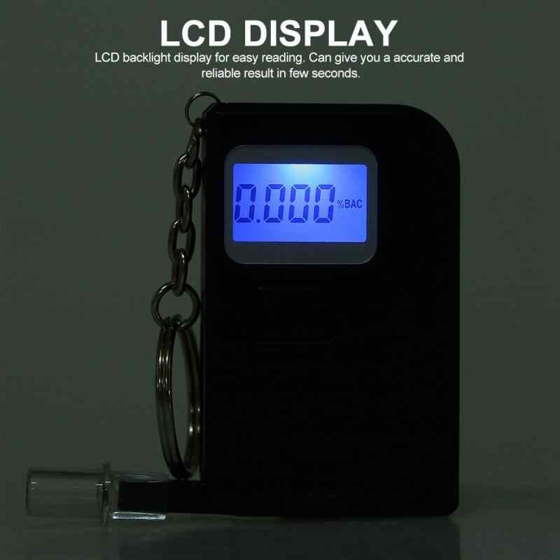 Testeur d'alcoolémie Portable Mini-chaîne porte-clés haute précision analyseur d'alcootest détecteur de graisse corporelle