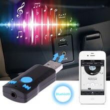 Receptor USB Bluetooth Adaptador Receptor de Música Reproductor de MP3 de Coche Bluetooth Manos Libres de Llamada 3.5 MM Streaming A2DP AUX Audio Del Coche
