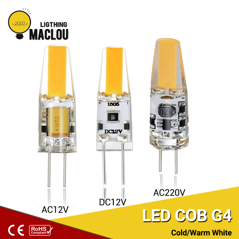 Us 0 64 49 Off Led G4 Cob 3w Light Bulb Ac Dc 12v 220v Cob G4 Led Lamp Bulb Replace Halogen G4 Spotlight Ampoule Led Decoration Home Lighting In Led