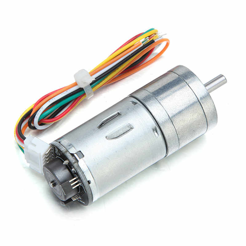 מנוע DC 6 v 100/210/300 rpm מקודד מנוע DC הילוך מנוע