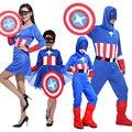Бесплатная доставка продвижение детская Хеллоуин костюм маскарад одежда Капитан Америка косплей костюм отцовства