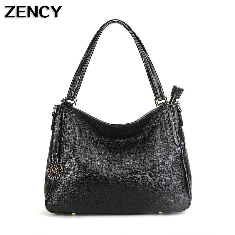 ZENCY New Women Genuine Leather Shoulder Bag Female Long Strap Crossbody Messenger Tote Bags Handbags Ladies Satchel For Girls 2016 women messenger bags leather shoulder bag ladies handbags small crossbody purse satchel bolsas fashion tote bags