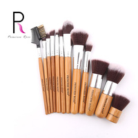 Princess Rose Brand 12pcs Full Professional Makeup Kit Bamboo Kabuki Make Up Brushes Brush Set Pincel