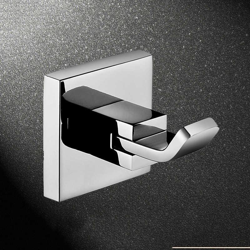 Wieszak ścienny haczyk na ubrania mosiądzu chromowany wykończenie łazienka sprzętu produkt akcesoria łazienkowe