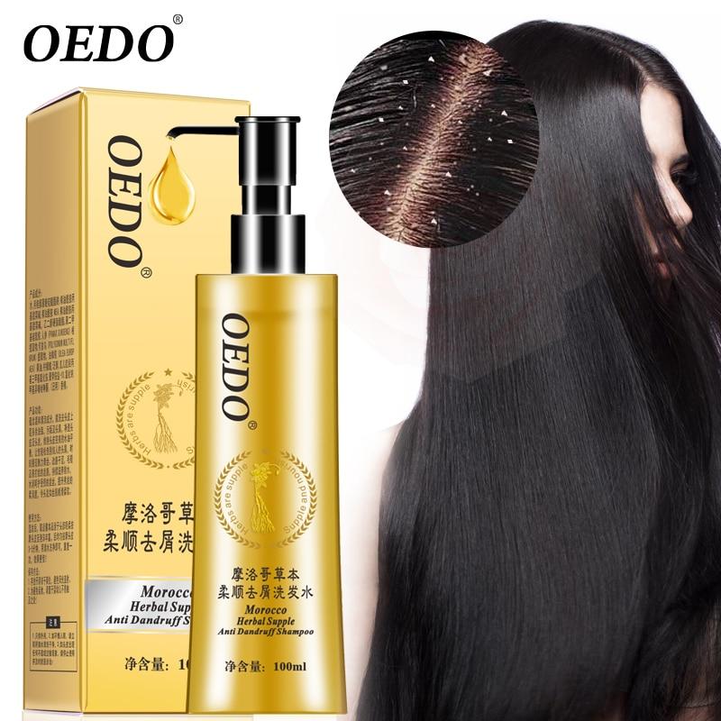 OEDO Marca 2018 Nuovi Prodotti Per La Cura Dei Capelli 100 ml Riparare I Capelli Marocco Erbe Elastica Shampoo Anti Forfora Grassa
