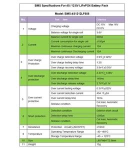 Image 2 - 4 S 12A 12.8 V LiFePO4 BMS/PCM/PCB pil koruma devre 4 Paketleri için 18650 pil hücresi w /denge