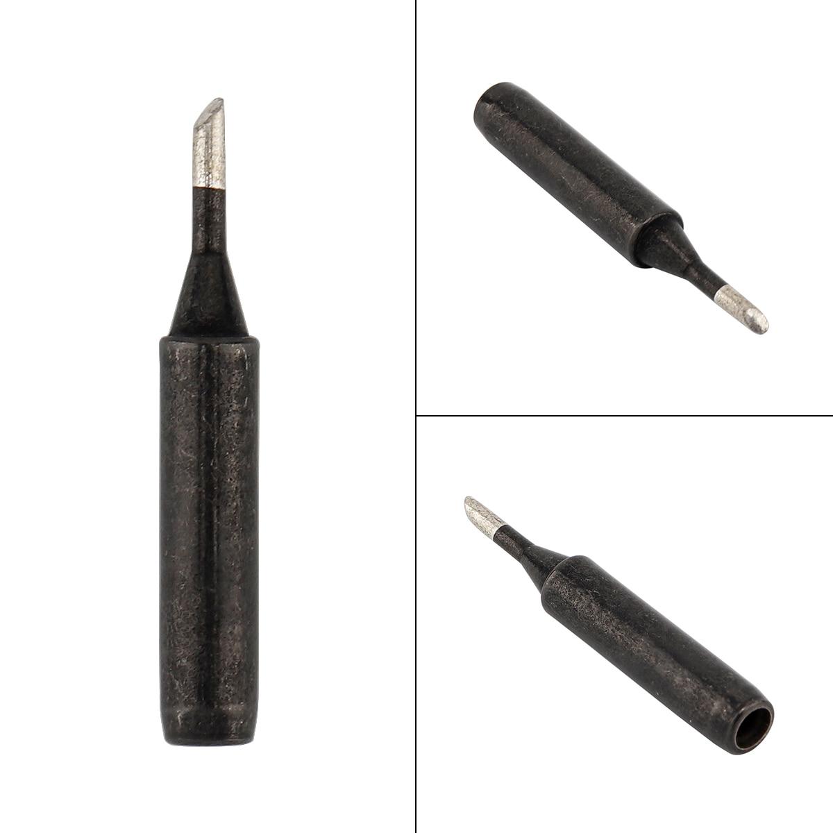 900M-T-2C Portable Solder Tip Lead-free Black Metal Soldering Iron Tips For Hakko / 936 Soldering Rework Station