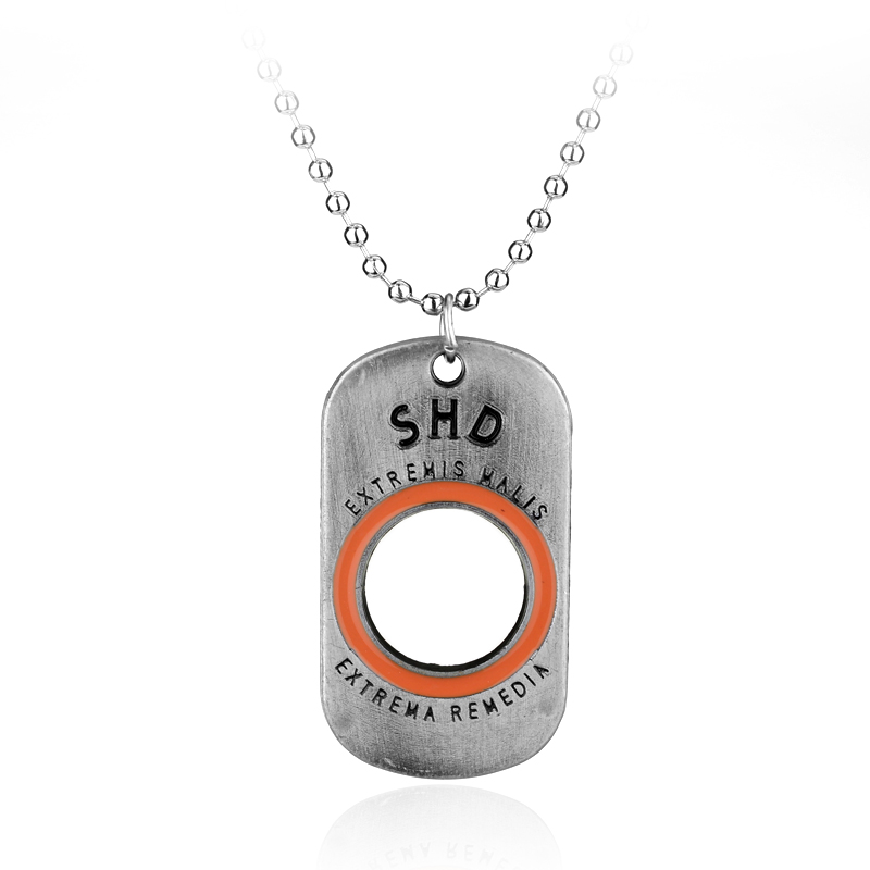 Hot Items PS4 Game Tom Clancys The Division Letter SHD Necklace Pendant