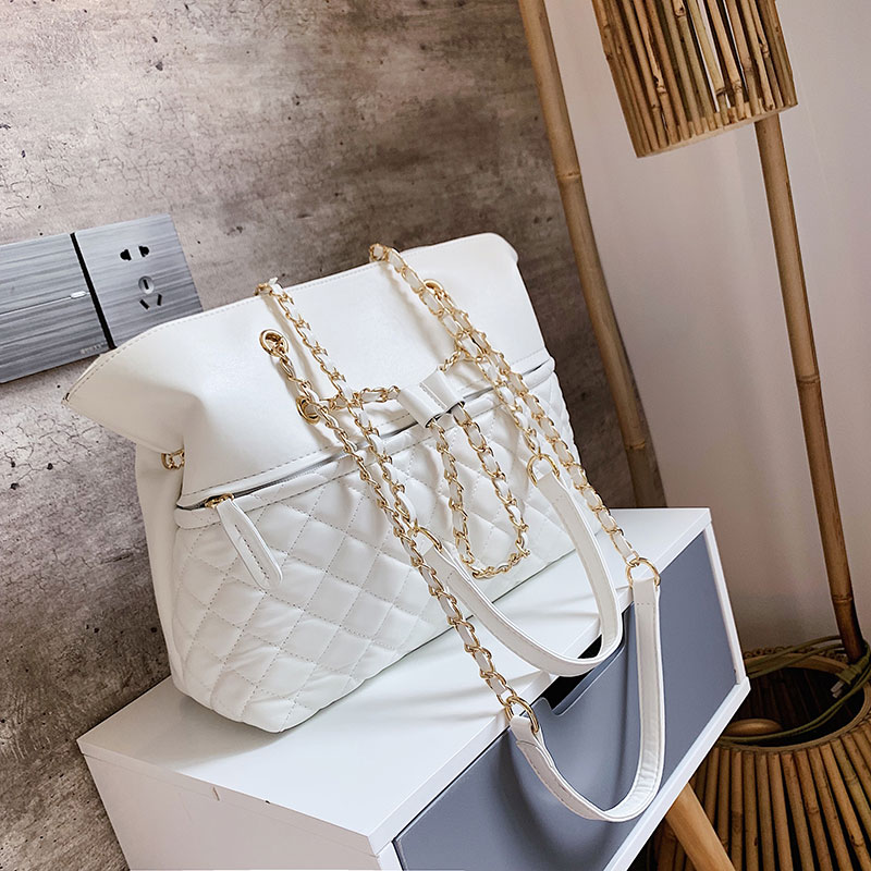 Elegant Female Large Tote Bag 2019 New Quality PU Leather Women's Designer Handbag High Capacity Chain Shoulder Messenger Bag