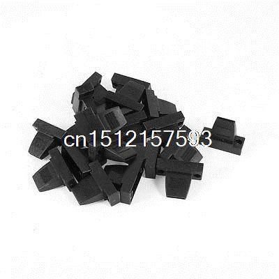 20 Pcs Plastic Cover Shell Housing Protector Black for D Sub DB9 9Pin Connector high tech and fashion electric product shell plastic mold