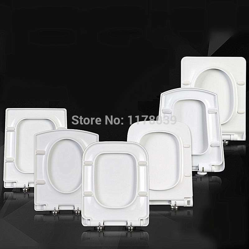 Thicken square TYPE toilet seats lid Trapezoidal toilet seat cover UF PP Board Slow Close Universal