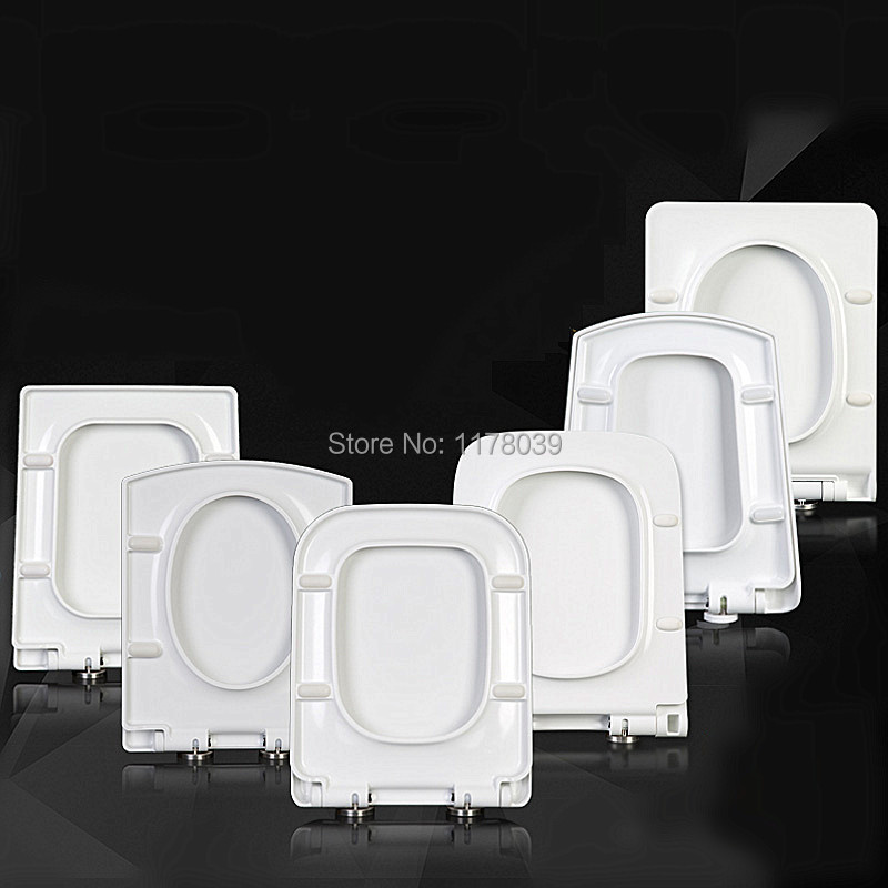 Thicken square TYPE toilet seats lid,Trapezoidal toilet seat cover,UF/PP Board Slow Close Universal toilet seats,J18024-in Toilet Seats from Home Improvement    1