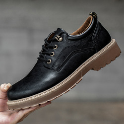 2018 Men Casual Leather Shoes Men Martins Leather Shoes Work Safety Shoes Winter Waterproof Ankle Botas 2
