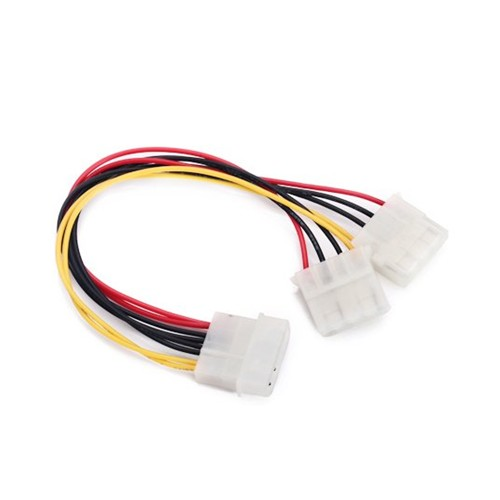 GTFS-Hot New 8 inch Computer Molex 4 Pin Power Supply Y Splitter Cable