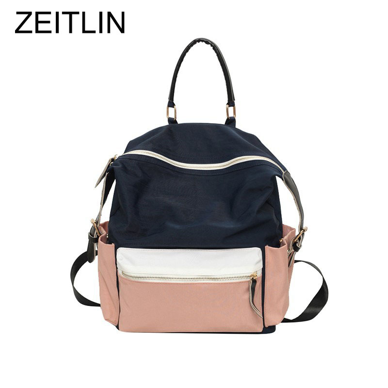 2017 Canvas Teenager Girls School Book Bag Women Fashion Cool Colorful Travel Backpack Female Large Back Pack bolsos mujer S609