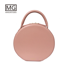 все цены на Mansurstudios Women Genuine leather Circular Bag  ,Mansur Gavriel lady  real leather shoulder Bags, tote bag ,free shipping онлайн