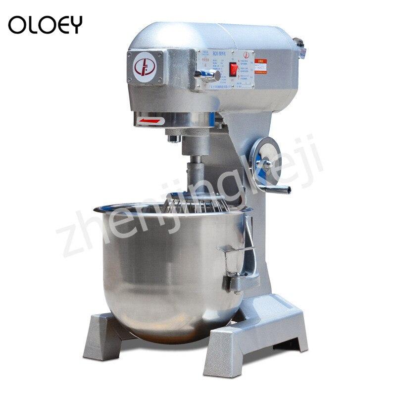 Massa comercial Misturador Creme Loja Bakery Loja Multi-função da Máquina De Mistura Mixer Eggbeater 10-80L Opcional
