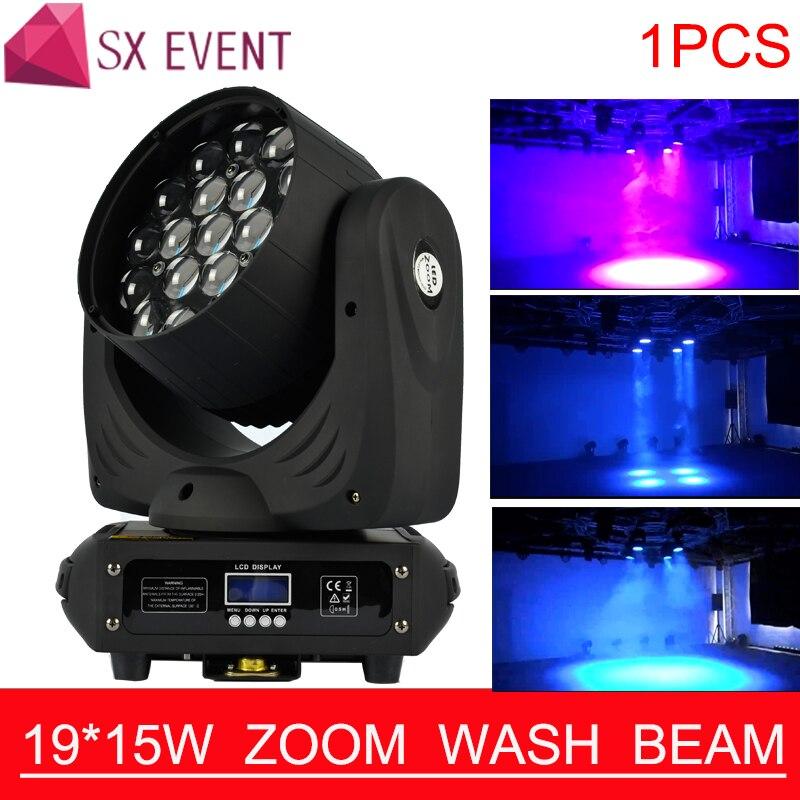 Professionnel 19*15 w Led RGBW 4in1 Lavage/Zoom Lumière DMX512 Moving Head Light DJ/Bar/ partie/Spectacle/Stage de Lumière LED Équipement de Scène