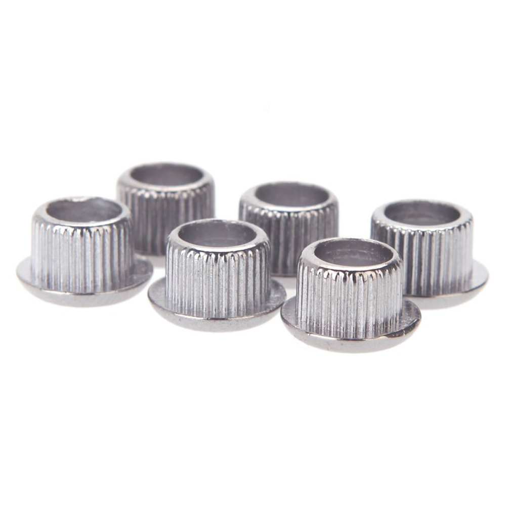 2Pcs Guitar Tuner Conversion Bushings Adapter Ferrules Nickel Plating with nice plastic shell for 10mm Peghead Holes Silver